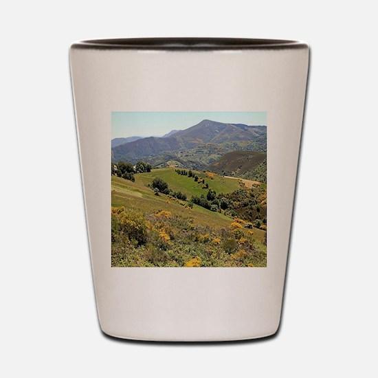 Mountains near O'Cebreiro, El Camino, S Shot Glass