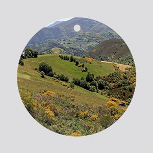Mountains near O'Cebreiro, El Camin Round Ornament