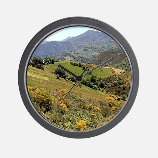 Mountains near O'Cebreiro, El Camino, S Wall Clock