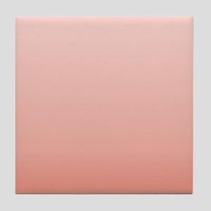 ombre peach pink Tile Coaster