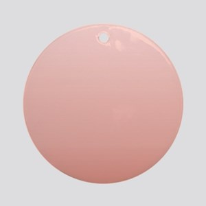 ombre peach pink Ornament (Round)