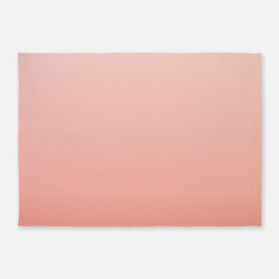ombre peach pink 5'x7'Area Rug