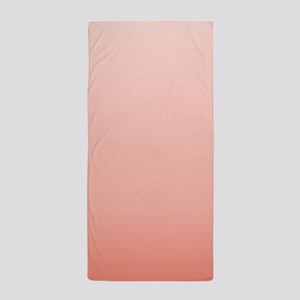 ombre peach pink Beach Towel