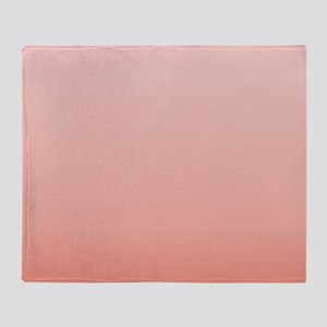 ombre peach pink Throw Blanket