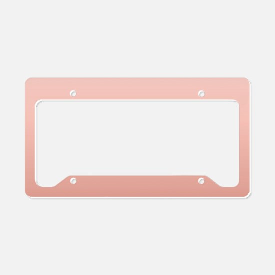ombre peach pink License Plate Holder