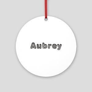 Aubrey Wolf Round Ornament