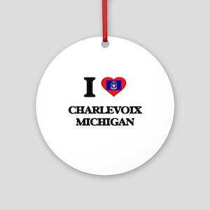I love Charlevoix Michigan Ornament (Round)