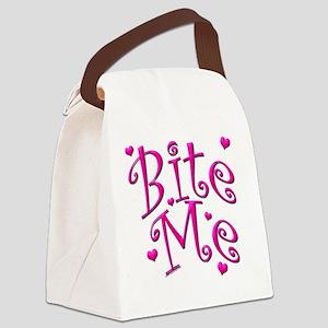 BiteMePink 10x10 Canvas Lunch Bag