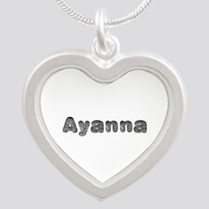 Ayanna Wolf Silver Heart Necklace