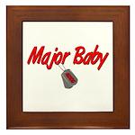 USCG Major Baby Framed Tile