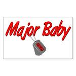 USCG Major Baby Rectangle Sticker