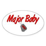 USCG Major Baby Oval Sticker