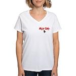 USCG Major Baby Women's V-Neck T-Shirt
