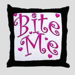 BiteMePink 10x10 Throw Pillow