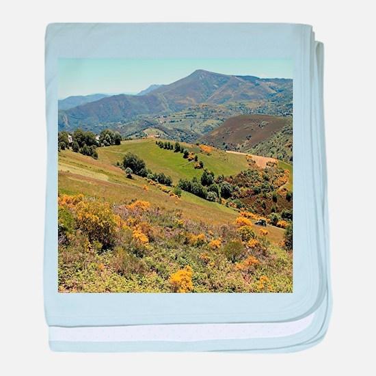 Mountains near O'Cebreiro, El Camino, baby blanket