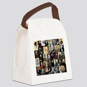 Composers Collage Canvas Lunch Bag