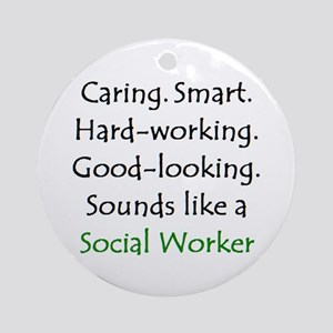 social worker sound Ornament (Round)