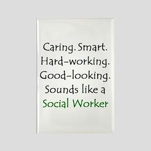 social worker sound Rectangle Magnet