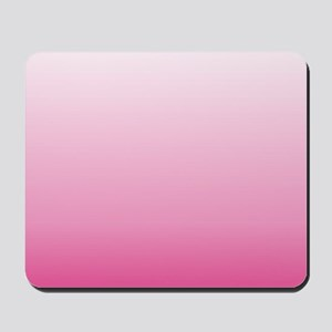 ombre hot pink Mousepad