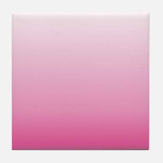 ombre hot pink Tile Coaster
