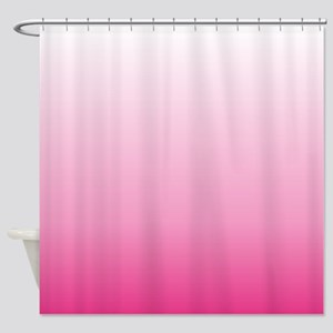 ombre hot pink Shower Curtain