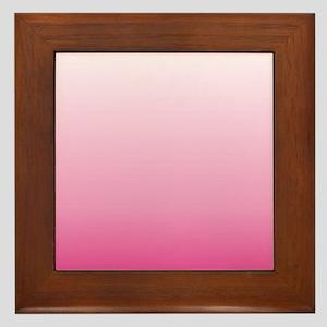 ombre hot pink Framed Tile