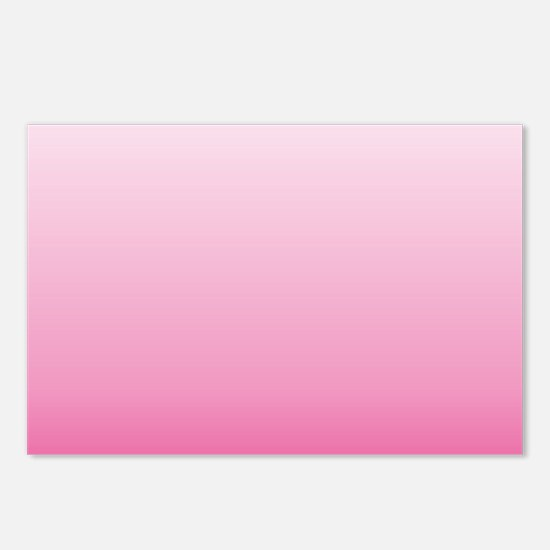 ombre hot pink Postcards (Package of 8)