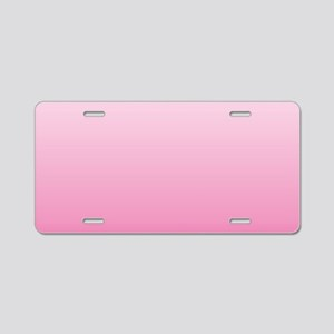 ombre hot pink Aluminum License Plate