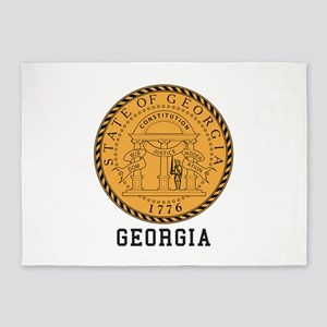 Georgia Seal 5'x7'Area Rug