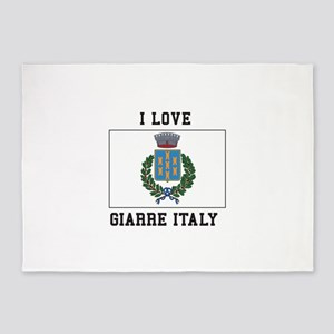 Love Giarre Italy 5'x7'Area Rug