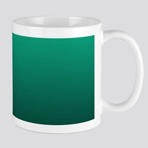 ombre green Mugs