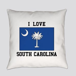 I Love South Carolina Everyday Pillow