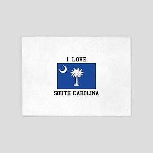 I Love South Carolina 5'x7'Area Rug