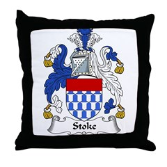 Stoke Family Crest Throw Pillow