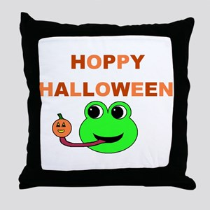 HOPPY HALLOWEEN Throw Pillow