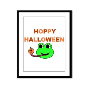 HOPPY HALLOWEEN Framed Panel Print