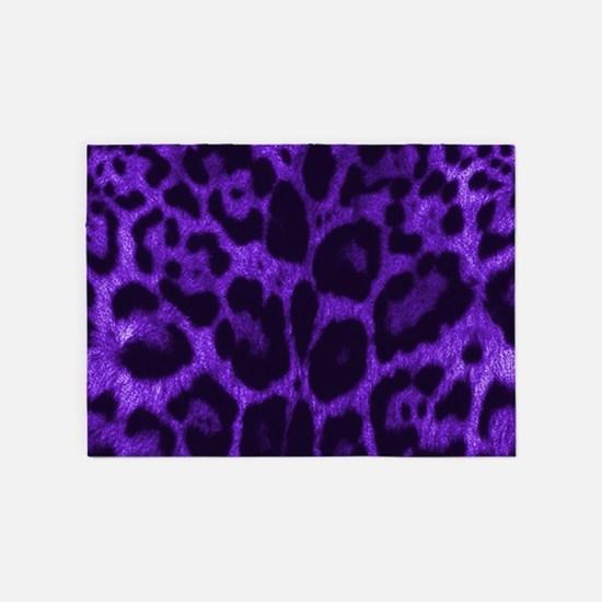 Purple Jaguar 5'x7'Area Rug
