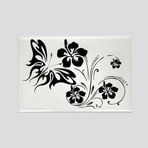 FLOWERS & BF 30 Rectangle Magnet
