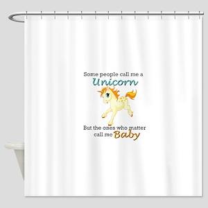 Unicorn Polyamory Triad Shower Curtain