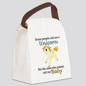Unicorn Polyamory Triad Canvas Lunch Bag