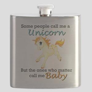Unicorn Polyamory Triad Flask