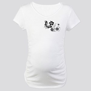 FLOWERS & BF 30 Maternity T-Shirt