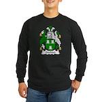 Stockton Family Crest Long Sleeve Dark T-Shirt
