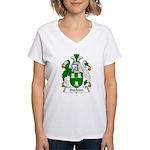 Stockton Family Crest Women's V-Neck T-Shirt