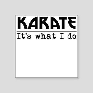 Karate Its What I Do Sticker