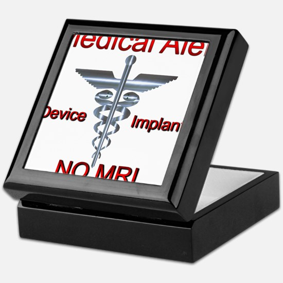Medical Alert Device Implant NO MRI A Keepsake Box