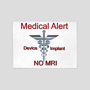 Medical Alert Device Implant NO MRI 5'x7'Area Rug