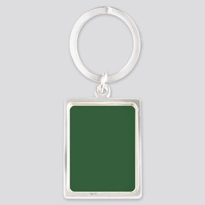 Solid Hunter Green Keychains