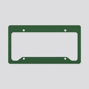 Solid Hunter Green License Plate Holder