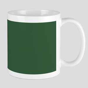 Solid Hunter Green Mugs